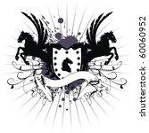 heraldic horse coat of arms in... | Shutterstock .eps vector #60060952