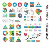 business charts. growth graph.... | Shutterstock . vector #600614402