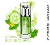 cucumber natural moisture skin... | Shutterstock .eps vector #600616685