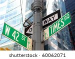 the intersection of 42nd street ... | Shutterstock . vector #60062071
