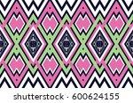 geometric ethnic pattern... | Shutterstock .eps vector #600624155