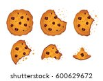 Bitten  Chip Cookie Vector...