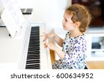 beautiful little kid girl... | Shutterstock . vector #600634952