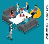trendy isometric people  3d... | Shutterstock .eps vector #600641348