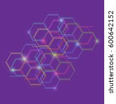 hexagonal geometric background. ... | Shutterstock .eps vector #600642152
