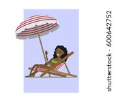 girl in a swimsuit with a...   Shutterstock .eps vector #600642752