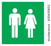 male and female sign  ... | Shutterstock .eps vector #600650852