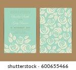 wedding invitation. floral... | Shutterstock .eps vector #600655466