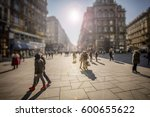 crowd of anonymous people... | Shutterstock . vector #600655622