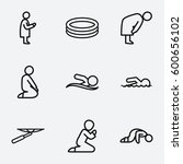 figure icon. set of 9 figure... | Shutterstock .eps vector #600656102