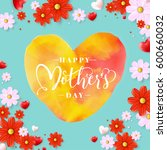 mothers day typographical... | Shutterstock .eps vector #600660032