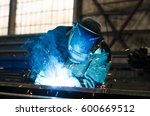 welders working at the factory... | Shutterstock . vector #600669512
