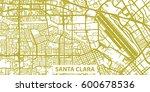 detailed vector map of santa... | Shutterstock .eps vector #600678536