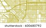 detailed vector map of fresno... | Shutterstock .eps vector #600680792