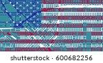 detailed vector map of fresno... | Shutterstock .eps vector #600682256