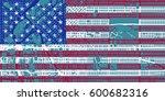 detailed vector map of denver... | Shutterstock .eps vector #600682316
