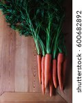 fresh carrots with green leaves ... | Shutterstock . vector #600682892