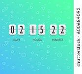 flip countdown timer vector... | Shutterstock .eps vector #600684092