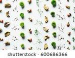 still life arrangement with dry ... | Shutterstock . vector #600686366