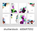 memphis geometric background... | Shutterstock .eps vector #600697052