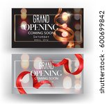 grand opening banners with... | Shutterstock .eps vector #600699842