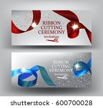 ribbon cutting ceremony... | Shutterstock .eps vector #600700028