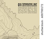 topographic map background with ... | Shutterstock .eps vector #600700172