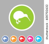 kiwi bird icon flat web sign... | Shutterstock . vector #600702632