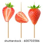 collection of whole and cut in... | Shutterstock . vector #600703586