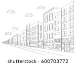 city retail and office...   Shutterstock .eps vector #600703772