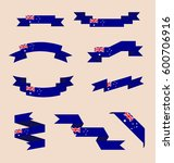 vector set of scrolled isolated ... | Shutterstock .eps vector #600706916
