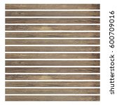 old wood plank isolated on... | Shutterstock . vector #600709016