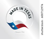 made in texas transparent logo... | Shutterstock .eps vector #600712976