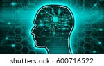 artificial intellect hi tech... | Shutterstock . vector #600716522