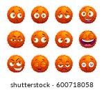 Funny Orange Round Characters...