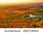 bird eye view of forest and... | Shutterstock . vector #600718442