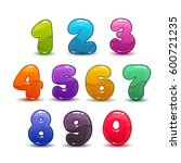 funny colorful numbers set on... | Shutterstock .eps vector #600721235