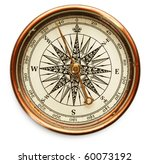 old compass on white background | Shutterstock . vector #60073192
