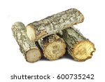 firewood isolated on white. | Shutterstock . vector #600735242