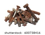Pile Of Old Rusty Screw Heads ...