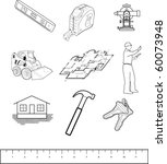 illustrations of construction items - stock vector