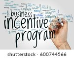 incentive program word cloud... | Shutterstock . vector #600744566