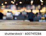 empty wooden table for present...   Shutterstock . vector #600745286