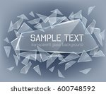 vector transparent broken glass ... | Shutterstock .eps vector #600748592