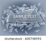 vector transparent broken glass ... | Shutterstock .eps vector #600748592