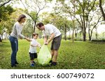 family volunteer charity... | Shutterstock . vector #600749072