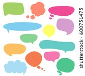 a collection of vector speech... | Shutterstock .eps vector #600751475