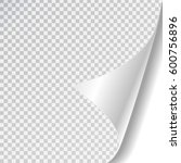 vector white paper page curl on ... | Shutterstock .eps vector #600756896
