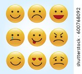 set of emoticons  icon pack ... | Shutterstock .eps vector #600768092