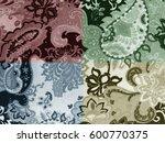 Batik Pattern On Quadrants Color